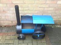 Wood burner traction engine/train