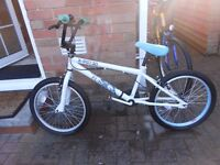 BRAND NEW WHITE X-RATED BMX BIKE FOR 9-12 YEAR OLD: NEVER RIDDEN & LESS THAN HALF PRICE