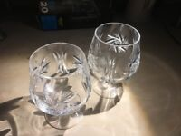 Set of two Crystal Brandy Glasses