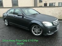 2008 MERCEDES C220CDI SPORT AUTO ALLOYS LEATHER XENONS ELECTRIC SEATS FINANCE AVAILABLE FULL MOT