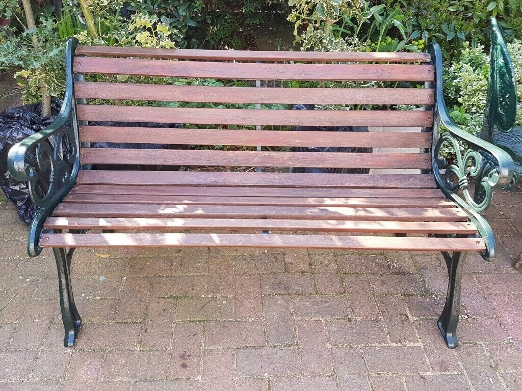 Excellent Cast Iron Arms Wood Slatted Garden Bench Used But In Excellent Condition In Kirkliston Edinburgh Gumtree Andrewgaddart Wooden Chair Designs For Living Room Andrewgaddartcom