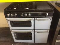 Silver & black new home 80cm dual fuel cooker grill & fan oven with guarantee