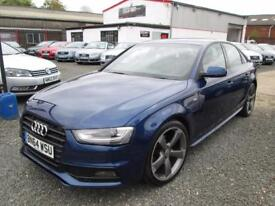 Audi A4 2.0 TDI 177 BLACK EDITION 4dr + BLUETOOTH + FULLY SERVICED + VERY RARE COLOUR (blue) 2014