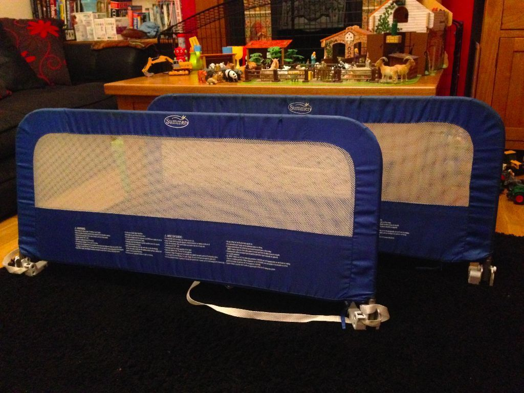 Summer Grow With Me Blue Double Bed Rail Guard Adjustable To Fit Single