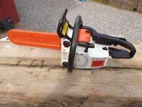 "Stihl 2 stroke 16"" chainsaw"
