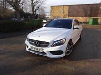 Mercedes-Benz C Class C220 Bluetec Amg Line[Premium] (white) 2014