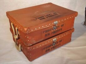 Unique Vintage Packing Cases-Property Of HM Prison-North Riding County Library
