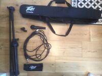 Peavey Microphone & Accessory Pack PVi100 Mic XLR + Stand
