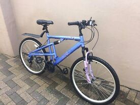 Girls/adults bike, front and rear suspension, hardly used only covered maximum 50 miles