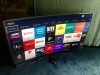 SAMSUNG 55 INCH 4K CURVED SUHD SMART LED INTERNET TV.