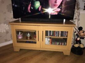 Wooden tv display unit plus separate CD rack