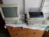 Vintage Computer Amstrad PcW 9256 with Printer and Keyboard