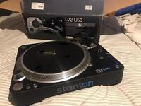 Stanton T.92 USB turntable (as good as new)