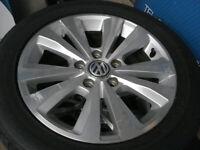 GENUINE 16 INCH VW WHEELS & TYRES