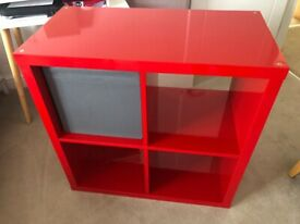 IKEA Kallax red high gloss storage