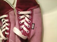 pink VANS size 6