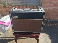 VOX amp ac30cc2x not been used for a while but in good condition also hard guitar case & mic stnd