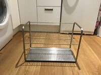 Large stainless steel rust free dish drainer