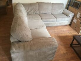 Large Corner Sofa & Sofa Bed - Beige