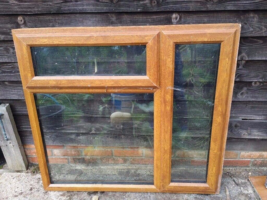 UPVC Oak finish window (oak inside and out).