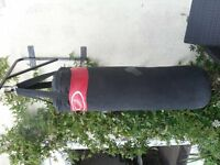 Punch bag with outdoor hook