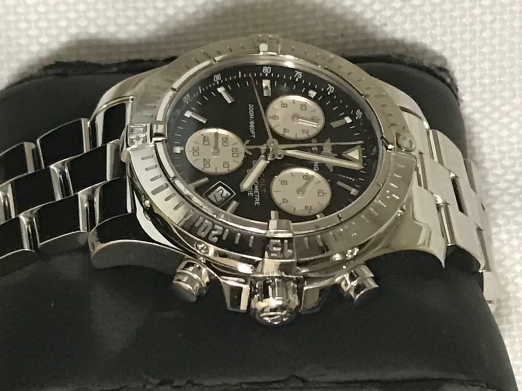 316e3dc8009 Genuine Breitling Colt Chronograph 41mm, Black Dial, With Box & Papers. Not  Rolex, Omega, Tag Heure