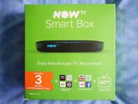 Now TV SMART BOX + 3 Months Now TV Entertainment Pass. New unused, in box. Catchup & FREEVIEW tuner