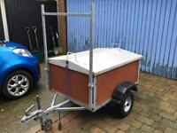 Dolphin car trailer galvanised chassis ,detachable lid new wheels and tyres