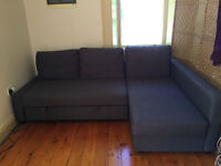 excellent condition (1 yr old) Grey Ikea sofa bed