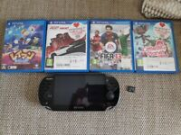 Ps vita, 4gb card, 4 games