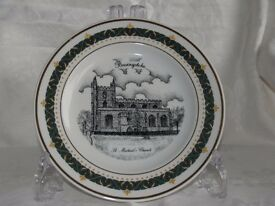 Decorative collectors plate of old Basingstoke