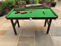 "Kids 4'6"" Snooker Table, free-standing"