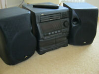 JVC triple cd player, and double cassette player.