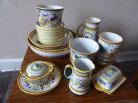 Italian pottery Pasta set etc