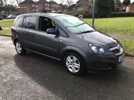 2012 Vauxhall Zafira 7 Seater, LOW MILEAGE, 1.6 Petrol, Manual