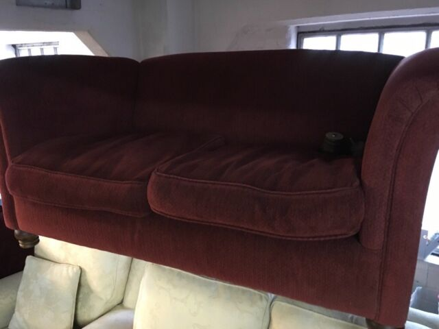 Nice Little Two Seater Sofa In A Win Colour Fabric With Rolled Arms Bristol Gumtree
