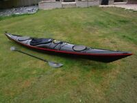 Valley Gemini ST Sea Kayak with paddle and spraydeck
