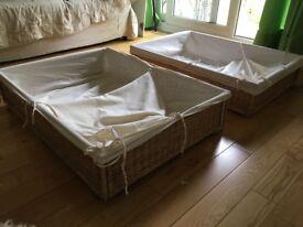 2x IKEA Baskets (under bed storage)