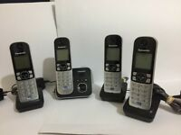 PANASONIC KX-TG6821E QUAD DECT CORDLESS TELEPHONE SET WITH ANSWER MACHINE