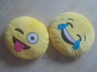 "Two Emoji Cushions - each measures 13"" (just over a Foot) - brighter Yellow than in Photo"