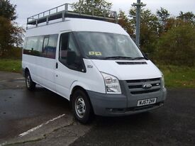 FORD TRANSIT, 15 SEAT MINIBUS, ONLY 24,000 MILES, ONE OWNER, FULL HISTORY.