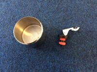 Re-seal Wine or Spirit Stopper/Preserver + Metal circular container_£3 for ALL
