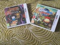 3ds games scribblenauts unlimited and adventure time explore the dungeon because I don't know
