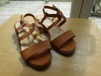 New Look Tan Leather Sandals