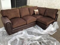 New modern brown corner suite