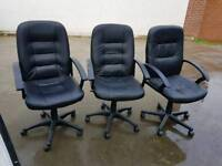3 office chairs.