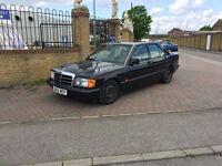 Mercedes 190e 2.0 petrol, retro daily.