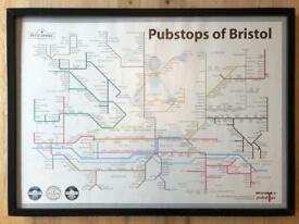 Pubstops of bristol poster & frame