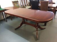 Large Regency Reproduction Style Dining Table in Perfect Condition
