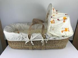 Mosses Baby Bed Basket with Mattress & covers